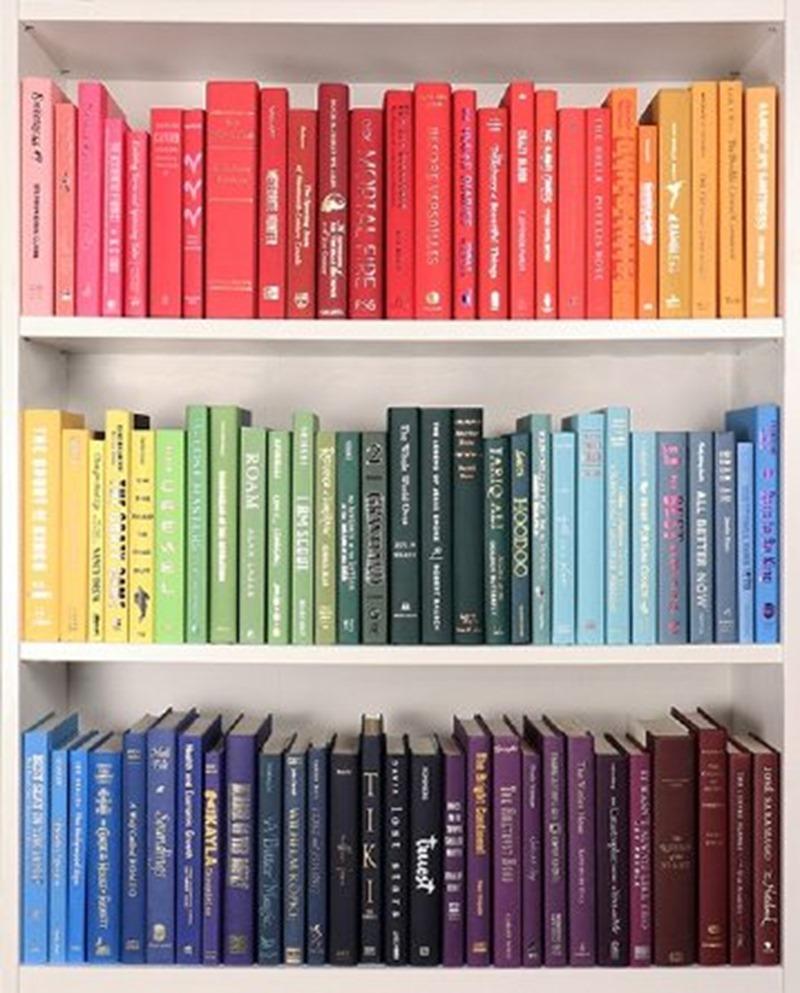 Ranger sa bibliothèque par couleurs
