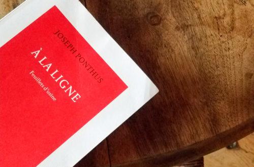 Joseph ponthus blog litteraire